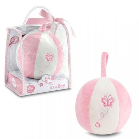Piccino - Мека топка с дрънкалка в розово