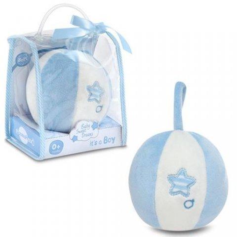 Piccino - Мека топка с дрънкалка в синьо