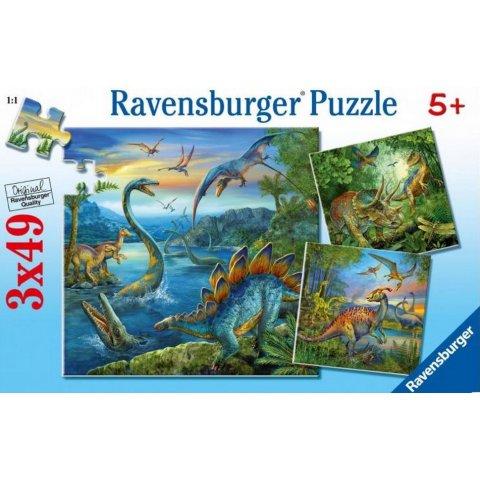 Ravensburger -  Детски пъзел Светът на динозаврите