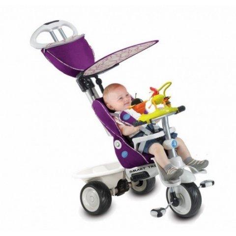 Smart Trike - Детска триколка 4в1 Recliner Цикламена