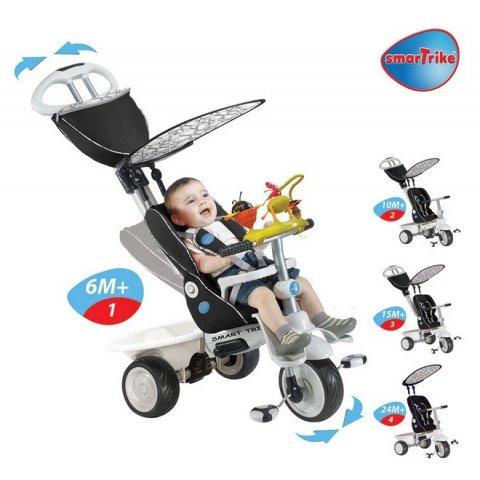 Smart Trike - Детска триколка 4в1 Recliner Черна