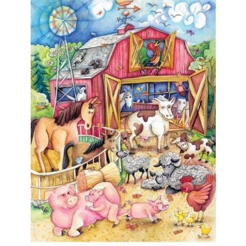 Ravensburger -Детски пъзел Супер Моята забавна ферма