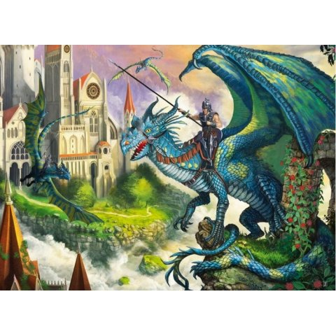 Ravensburger - Детски пъзел Супер Ездач на дракон