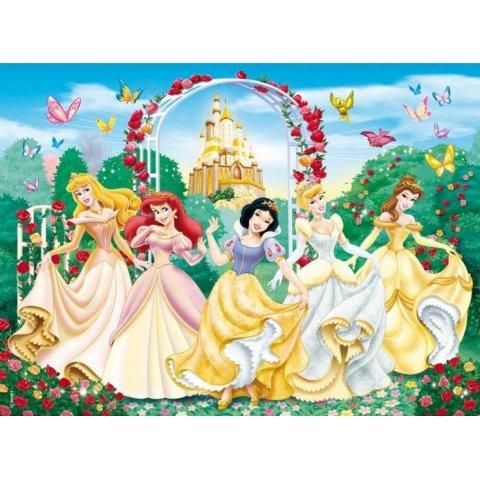 Ravensburger - Детски пъзел Супер Принцесите на Дисни с блясъци XXL