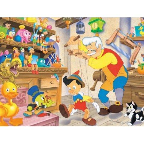 Ravensburger - Детски пъзел Супер Пинокио: Джепето на работа