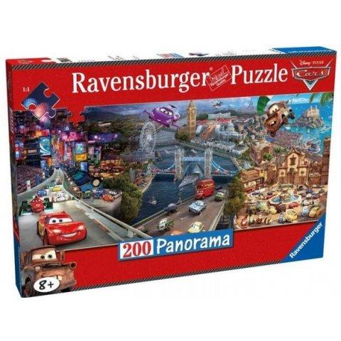 Ravensburger -    Детски пъзел Супер Панорамен пъзел Колите