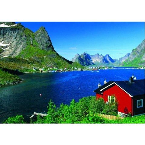 Ravensburger - Пъзел 500 елемента Норвежко рибарско селище