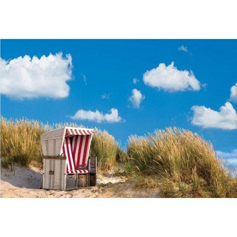 Ravensburger - Пъзел 500 елемента Самотен стол на плажа