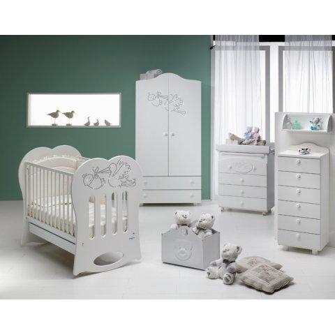 Baby Italia - Бебешко легло люлка Кристал - Бяло