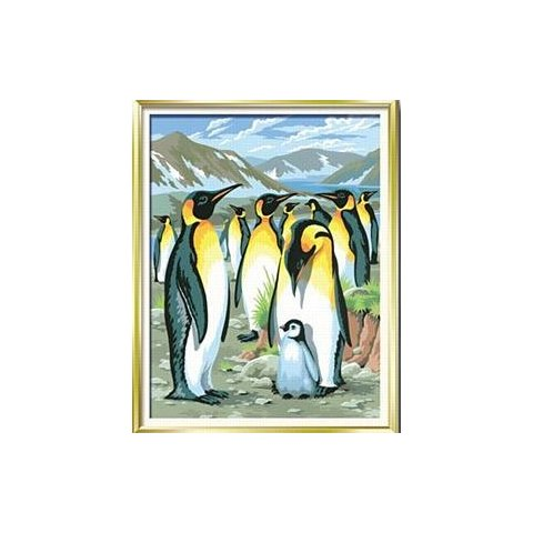 KSG Craft - Рисуване по номера с акрилни бои - Пингвини