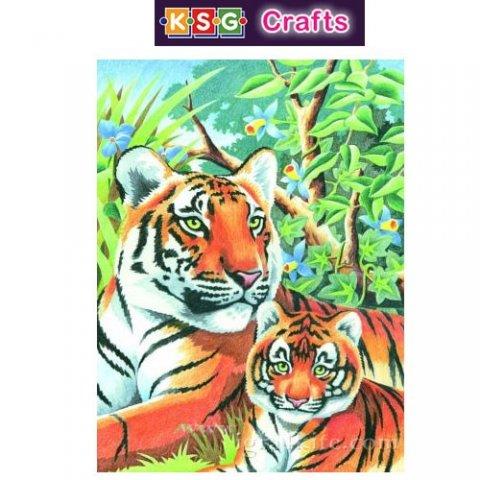 KSG Craft - Рисуване по номера с моливи - Тигри