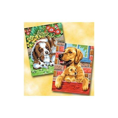 KSG Craft - Рисуване по номера - Кучета две картини