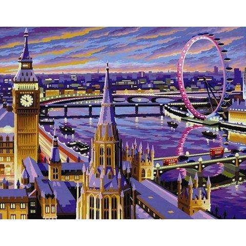KSG Craft - Рисуване по номера - голям размер Лондон