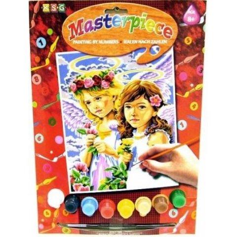 KSG Craft - Рисуване по номера с акрилни бои - Ангели