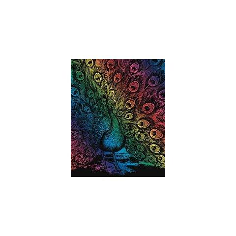 KSG Craft - Цветна гравюра Паун