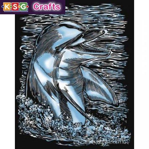 KSG Craft - Сребърна гравюра на Делфин