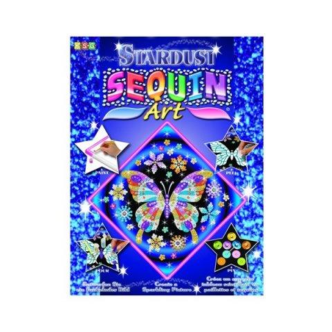 KSG Craft - Изкуство с пайети и блестящ пясък в рамка - Пеперуда