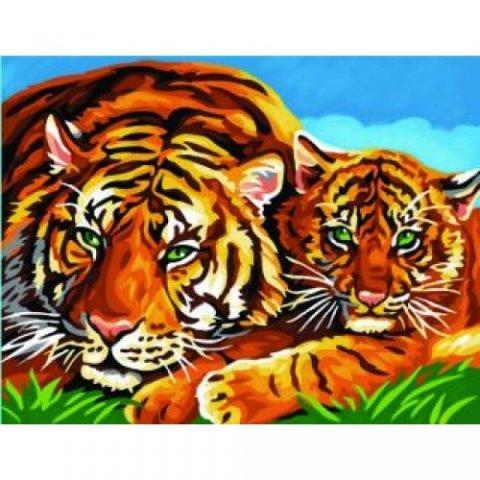KSG Craft - Рисуване по номера с акрилни бои - Тигри