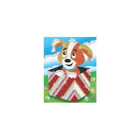 KSG Craft - Изкуство с пайети и блестящ пясък Куче