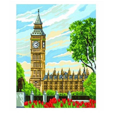 KSG Craft - Рисуване по номера с акрилни бои - Биг Бен, Лондон
