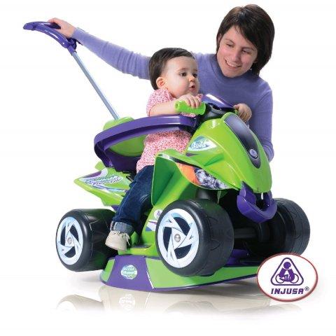 INJUSA - Кола за бутане 6в1 с родителски контрол - Зелена