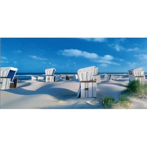 Ravensburger - Пъзел 1000 елемента Плажни кошчета на остров Зюлт, Германия