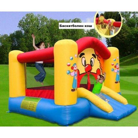Надуваем батут с кош и пързалка - Веселият Клоун