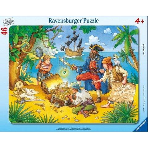 Ravensburger - Пъзел 30-48 елемента Пирати в търсене на съкровище