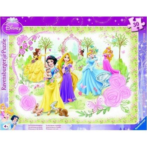 Ravensburger - Пъзел Disney 30-48 елемента Принцесите на Дисни в градината