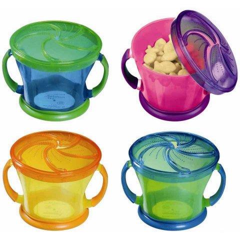 Munchkin - Чашка за храна с капаче и дръжки - синя