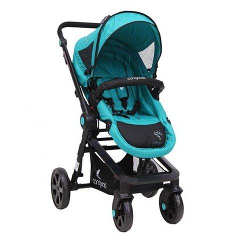 Cangaroo - Комбинирана Детска количка Angie - Синьо/Зелена