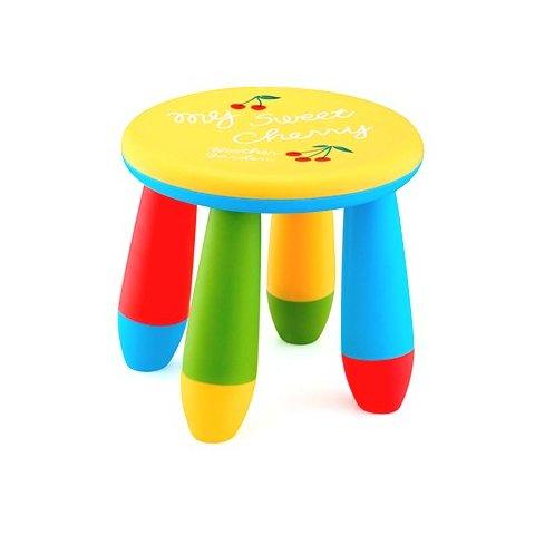Детско столче кръгло - Жълто