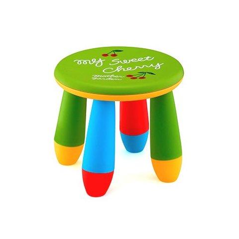 Детско столче кръгло - Зелено