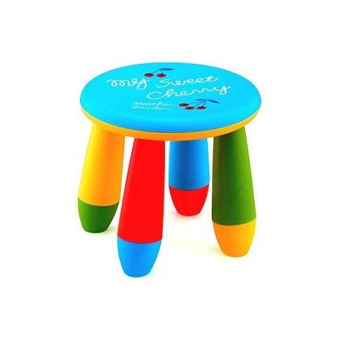 Детско столче кръгло - Синьо