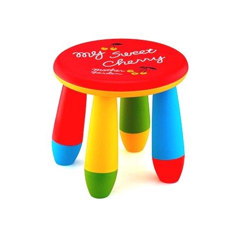 Детско столче кръгло - Червено