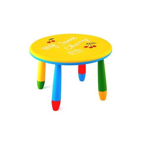 Детска кръгла масичка - Жълта