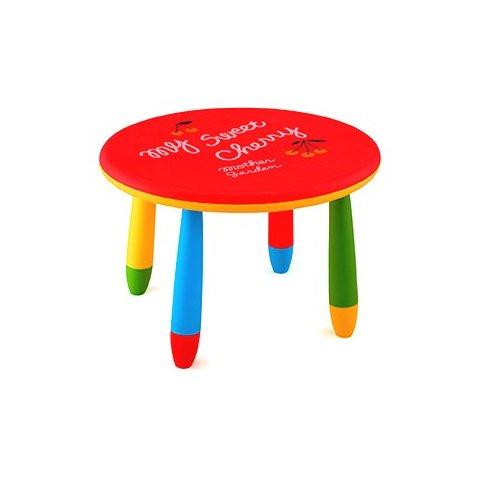Детска кръгла масичка - Червена