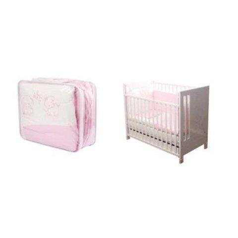 Baby Hit - Спален комплект - 8 части - Розови слончета