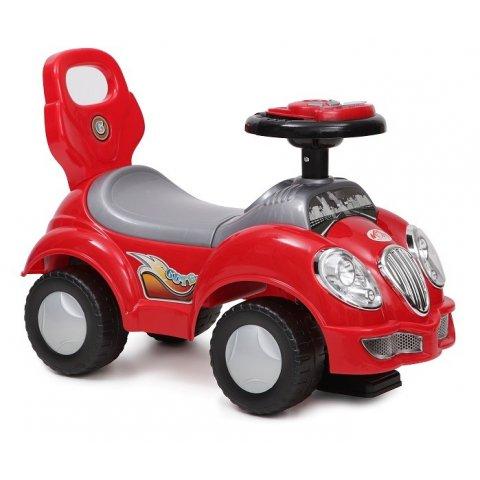 Moni - Кола за яздене и бутане CUTE CAR - червена