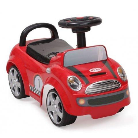 Moni - Кола за яздене и бутане Мини купър - червен 536