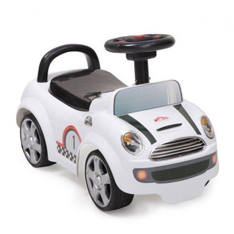 Moni - Кола за яздене и бутане Мини купър - бял 536