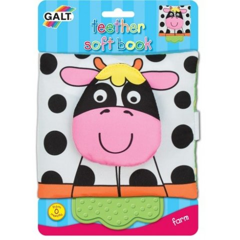 Galt - Мека книжка с гризалка Ферма