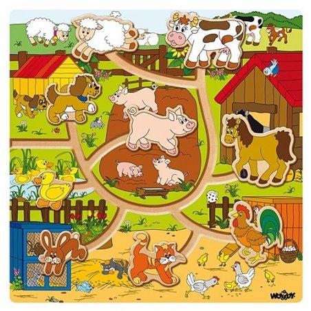 Woody - Пъзел Ферма с движещи се животни