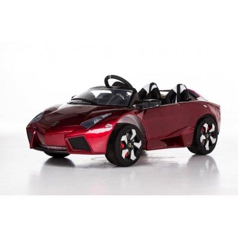 Акумулаторна кола с дистанционно управление - Lamborghini 12V - Червена