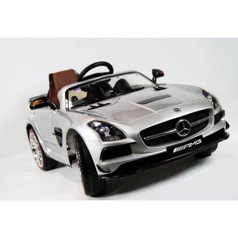 Акумулаторна кола Mercedes SLS AMG 12V - Сребриста