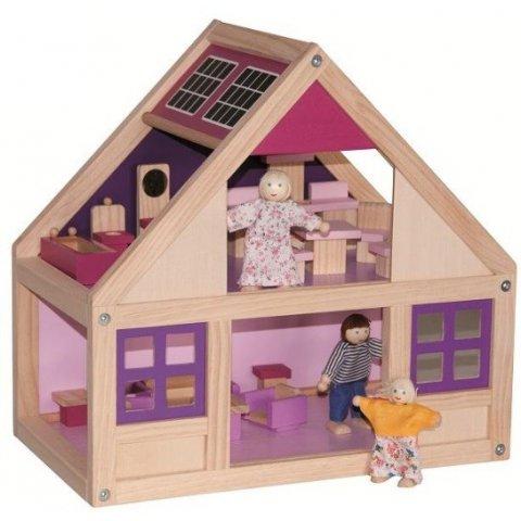 Woody -  Къща за кукли Тренди, с обзавеждане