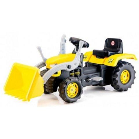 DOLU - Детски трактор с педали и кофа Жълт
