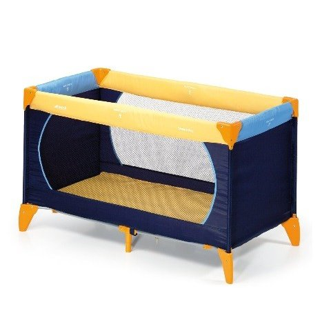 Hauck - Детска кошара Dream'n Play - Yellow/Blue/Navy