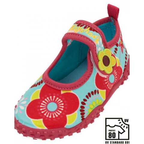Playshoes - Детски аква обувки - Червни цветя