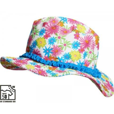 Playshoes - Лятна шапка с периферия - Цветя